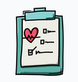 check list doodle color icon drawing sketch hand vector image