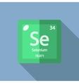 Chemical element Selenium Flat vector image vector image