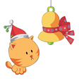 christmas cat vector image