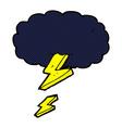 comic cartoon thundercloud vector image vector image