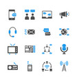 communication device in glyph icon set vector image vector image