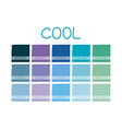 Cool Color Tone vector image vector image