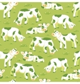 Cows on the field seamless pattern background vector image vector image