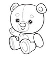 cute brown bear toy sitting isolated object on a vector image vector image