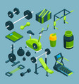 different equipment for bodybuilding and vector image vector image