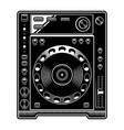 dj cd player on white background vector image vector image