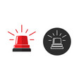 emergency flasher red color icon or black and vector image