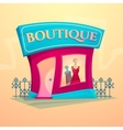 Facade fashion shop vector image