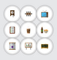flat icon oneday set of boardroom clock vector image vector image