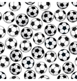 Football game seamless pattern with soccer balls vector image vector image