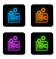 glowing neon prostake icon isolated on vector image