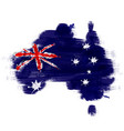 grunge map australia with australian flag vector image vector image