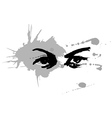 Handmade ink drawing of eyes vector image vector image
