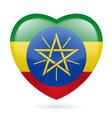 Heart icon of Ethiopia vector image vector image