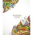 invitation card with fashion beautiful pattern vector image vector image