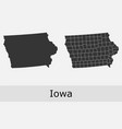 iowa map counties outline vector image vector image