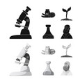 isolated object of and symbol set of and ve vector image vector image