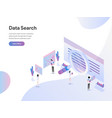landing page template data search isometric vector image vector image