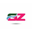 Letter g and z logo vector image