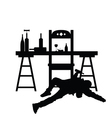 man drunk silhouette in black color vector image vector image