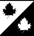 maple leaf black white silhouette sign set 508 vector image vector image