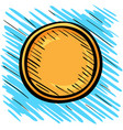 one gold coin sketch logo vector image