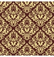 Ornate brown and yellow seamless arabesque pattern vector image