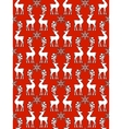 Pattern with reindeer vector image