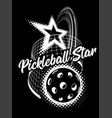 pickleball isolated on black vector image vector image