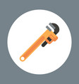 pipe wrench icon working hand tool equipment vector image vector image