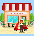 pizzeria bakery delivery service vector image vector image