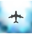 plane icon on blurred background vector image