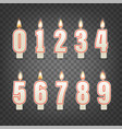 realistic wax candles with flame vector image