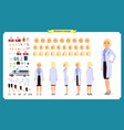 scientist character creation set woman vector image vector image