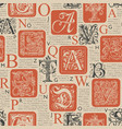seamless pattern with capital and initial letters vector image vector image
