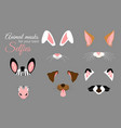 set of cute animal ears and vector image vector image