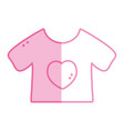 silhouette baby t-shirt and textile clothes vector image vector image