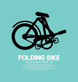 Single Folding Bike Graphic vector image vector image