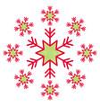 snowflake snow icon christmas and winter theme vector image