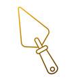 spatula construction tool handle icon vector image