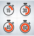 stopwatch set for every 15 minutes isolated on vector image vector image