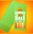 summer sale letters design template sun gift box vector image vector image