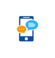 talk mobile logo icon design vector image