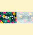 thank you postcard abstract background with red vector image