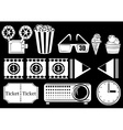 Things related to movies vector image vector image