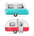 travel trailer isolated on white vector image vector image