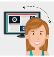 User online TV isolated icon design vector image vector image