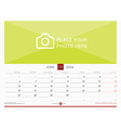 Wall Monthly Calendar for 2016 Year Design Print vector image