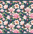 watercolor magnolia floral pattern