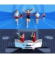 Winner Banners Composition vector image vector image